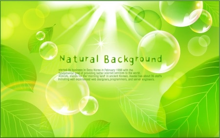 natural green background design sparkling bokeh leaves decoration