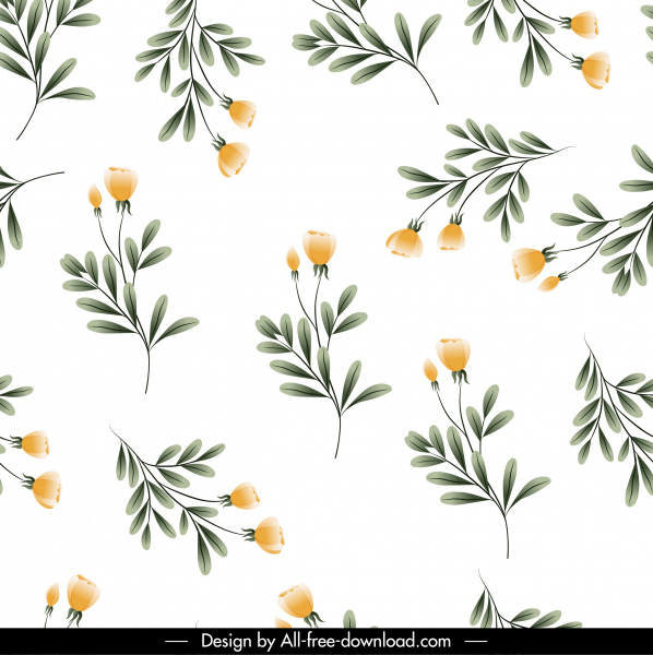 nature background bright colored fresh flowers sketch
