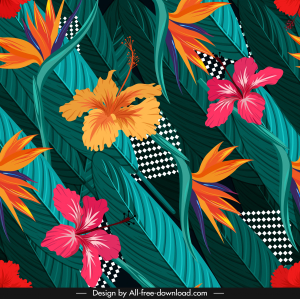 nature background colorful flora leaves decor