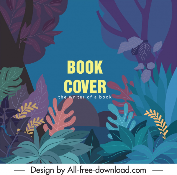 nature book cover template colorful classic forest scene