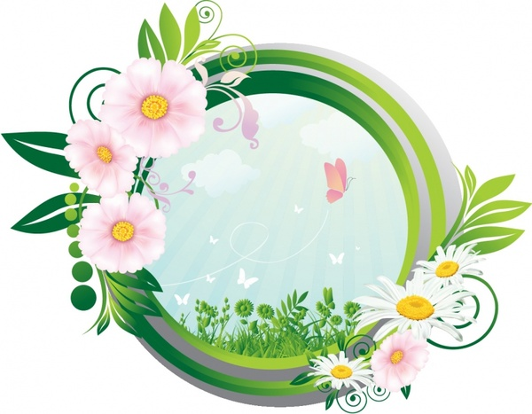 Nature concept frame Free vector in Adobe Illustrator ai ( .AI ...