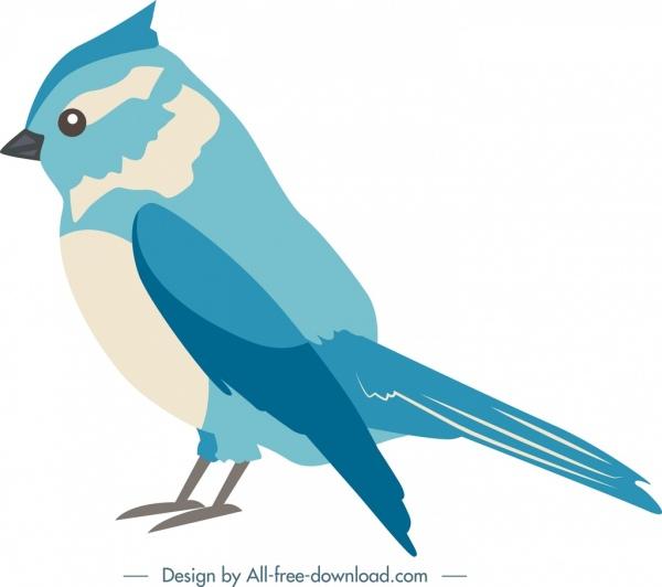 Nature Design Element Blue Bird Icon Cartoon Sketch Free Vector In