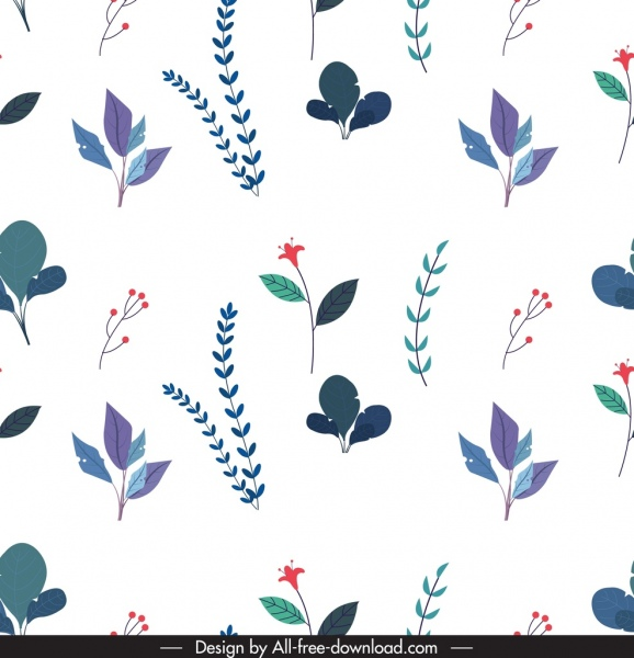 nature pattern floral leaves sketch repeating design