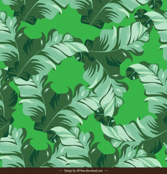 nature pattern luxuriant green leaves decor