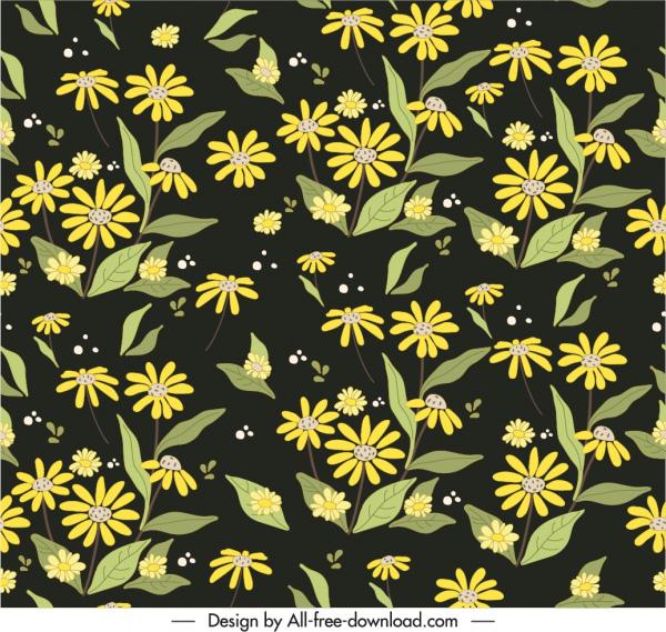 nature plants pattern dark design classical floral sketch