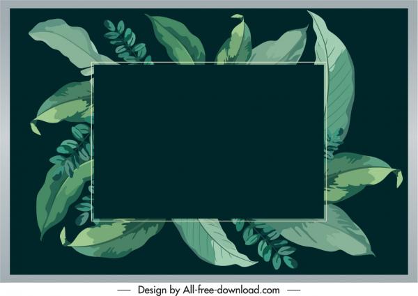 nature text box background green leaves dark retro