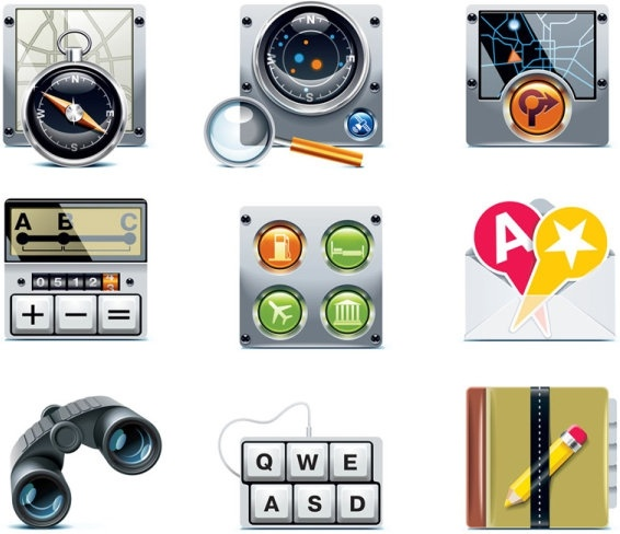 navigation icon 02 vector