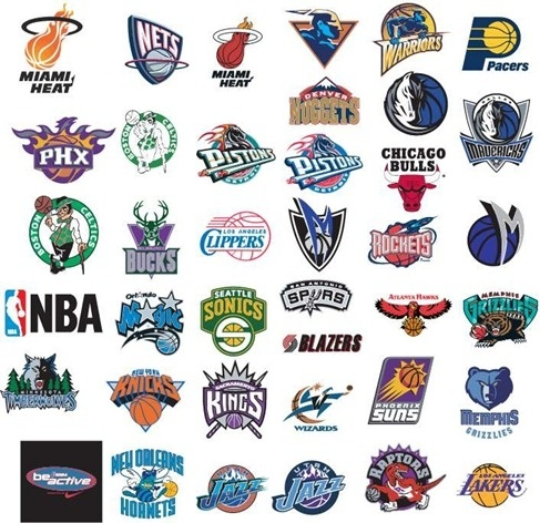 nba basketball team vector logos free vector in encapsulated postscript eps eps vector. Black Bedroom Furniture Sets. Home Design Ideas