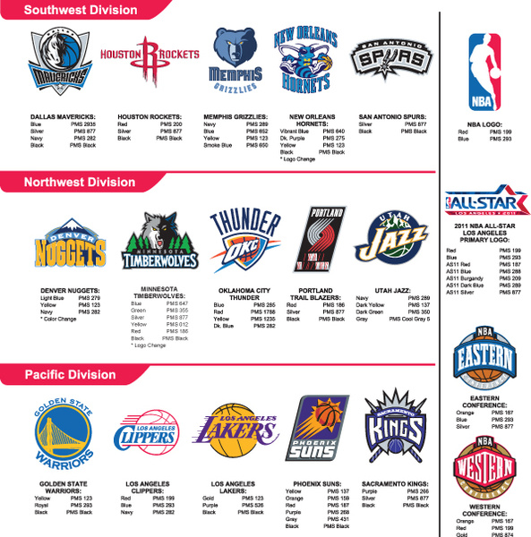 nba team logos vector set