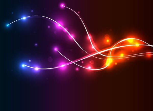 Neon Wave Vector Background