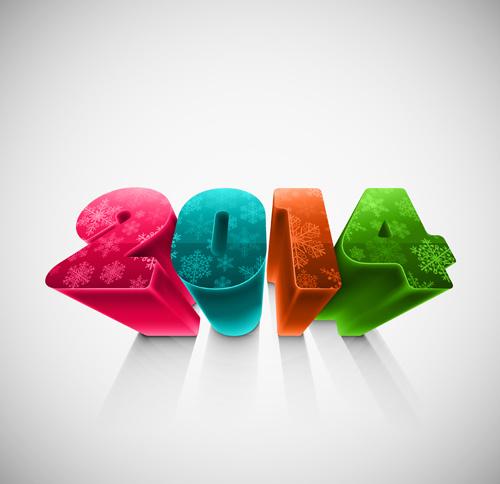 new year14 creative vector graphics