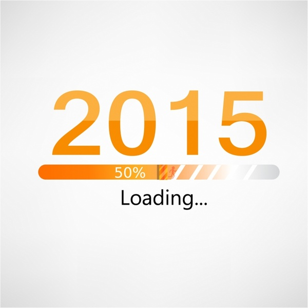 New year 2015 loading background