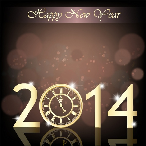 New Year clock 2014