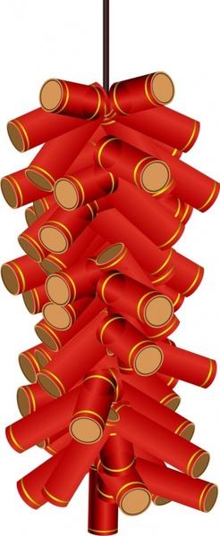 New year firecrackers vector Free vector in Coreldraw cdr ...