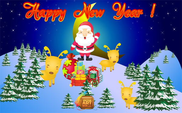 New year greeting free vector in adobe illustrator ai vector new year greeting m4hsunfo