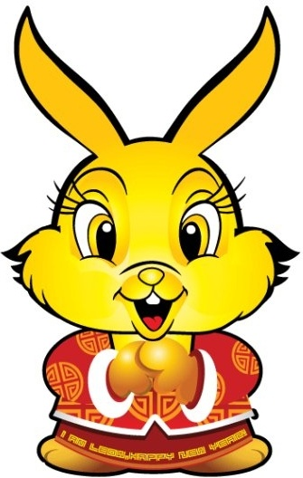 new year rabbit vector original
