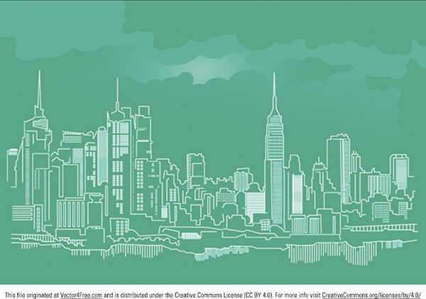 New York City Skyline Vector Free Vector In Adobe Illustrator Ai Ai Vector Illustration Graphic Art Design Format Format For Free Download 1 42mb