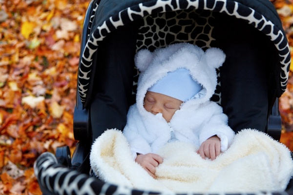 newborn in autumn