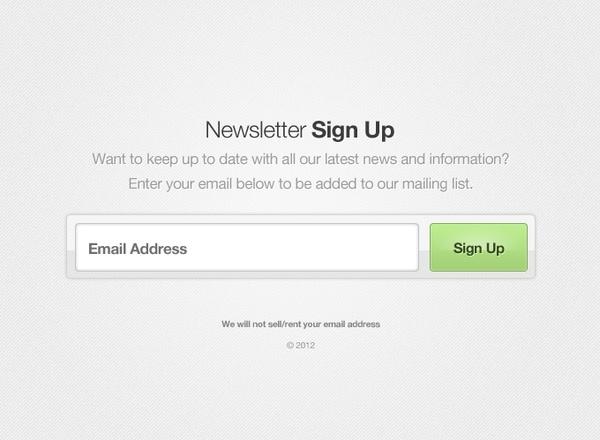 Newsletter Sign Up Form