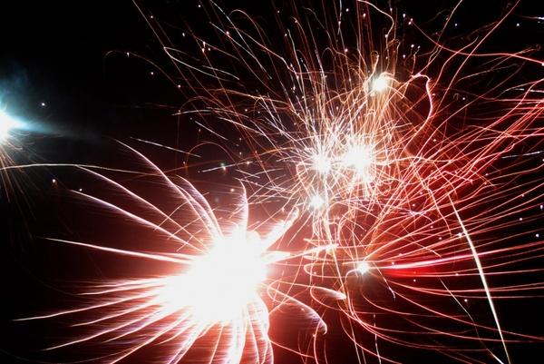 night time fireworks