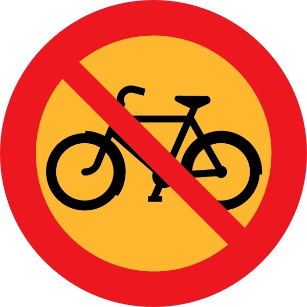 No Bicycles Roadsign Clip Art Free Vector In Open Office