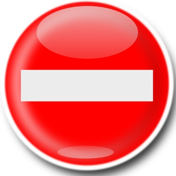 No Entry Sign clip art