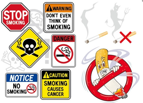 no smoking theme vector