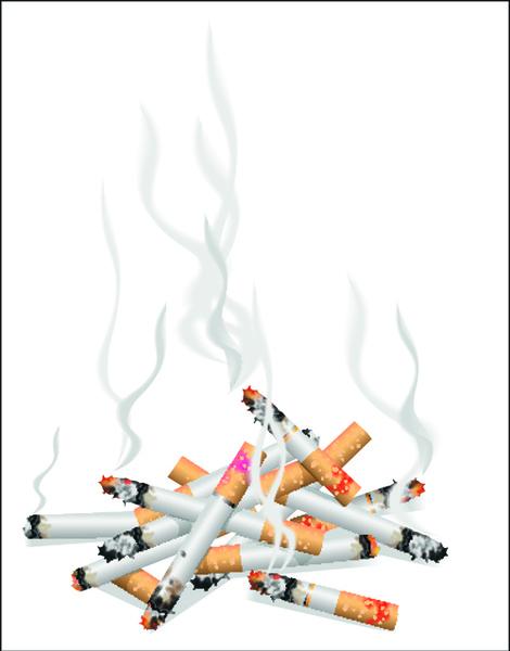 no smoking warning elements vector set