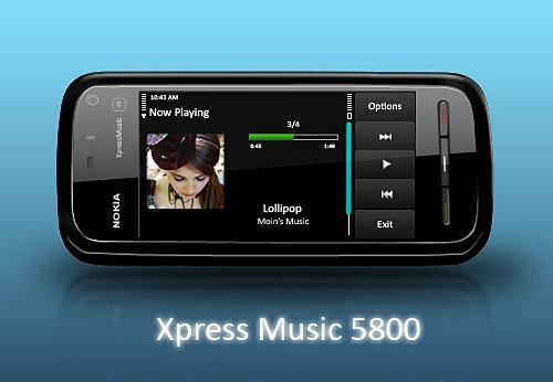 Nokia Xpress Music 5800 PSD Free psd in Photoshop psd (  psd