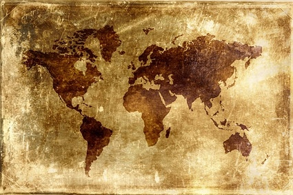nostalgic world map background picture