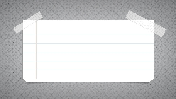 Note Paper PSD
