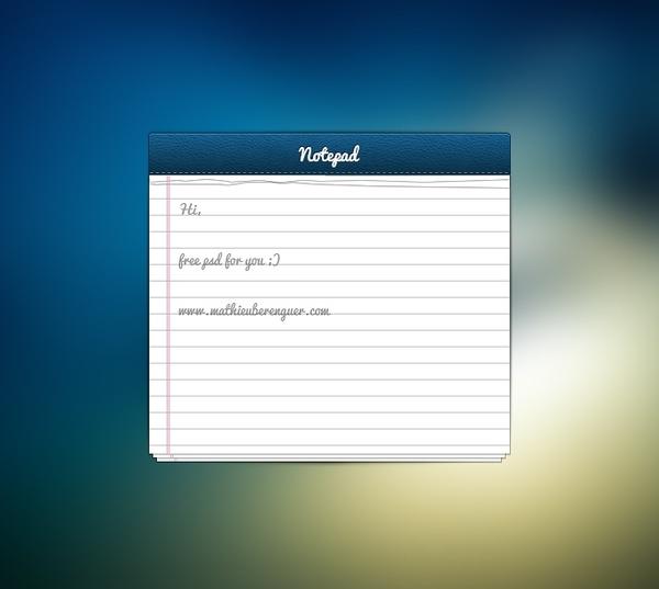 Notepad UI