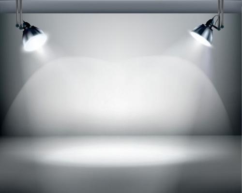 Object lighting floodlight effect design vector free vector in