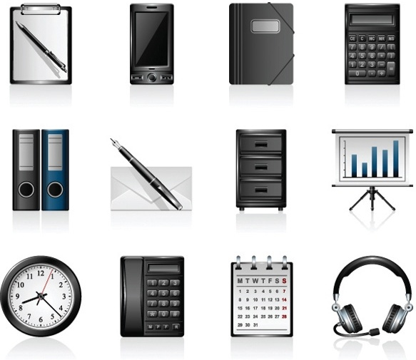office product icons vector