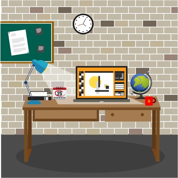 Office room Free vector in Adobe Illustrator ai ( .AI ...