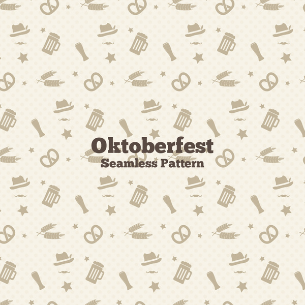 oktoberfest beer and wheat pattern