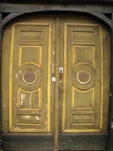 old door 1700-century panels