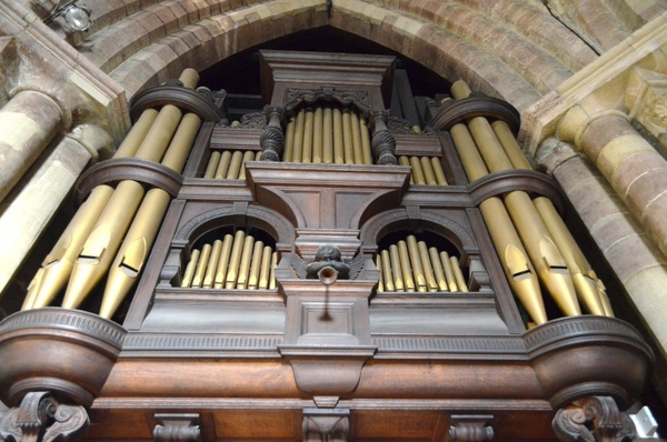 old organ in the church