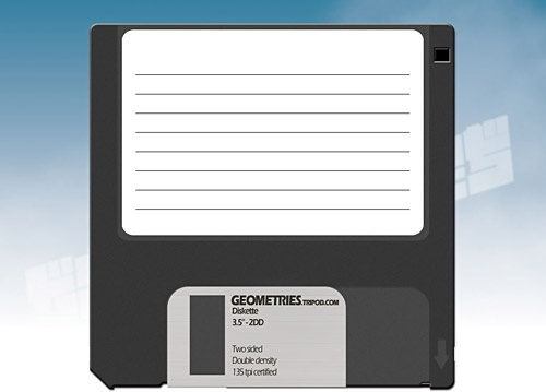 Old Style Diskette PSD