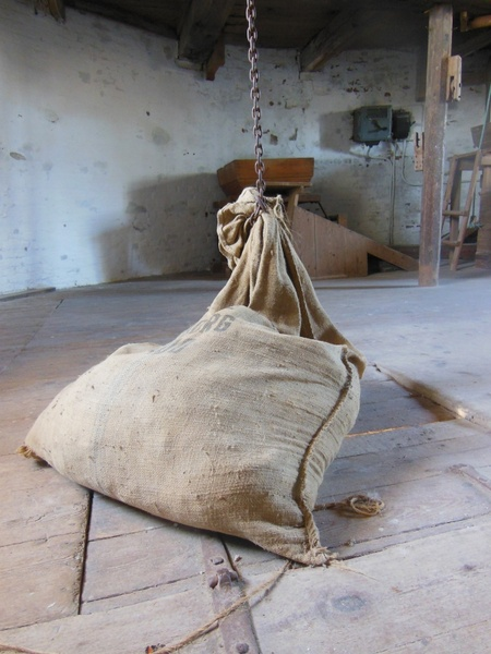old windmill dyrhave mill interior sack