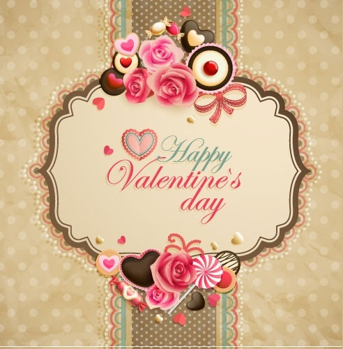 Oldfashioned Valentine Cards 05 Vector Free Vector In Encapsulated