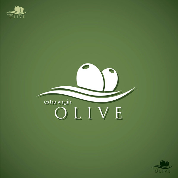 olive oil logo creative design vector