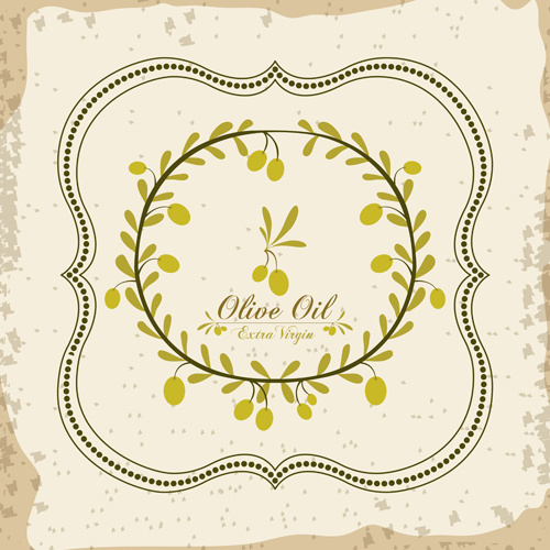 Olive oil retro frame vector set Free vector in Encapsulated ...