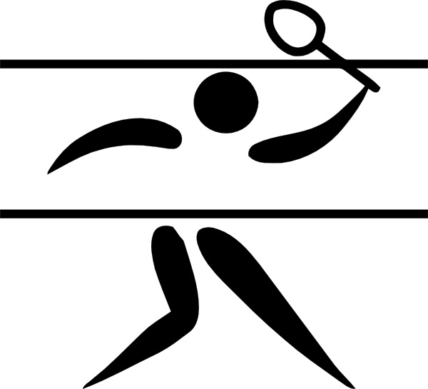 Olympic Sports Badminton Pictogram clip art