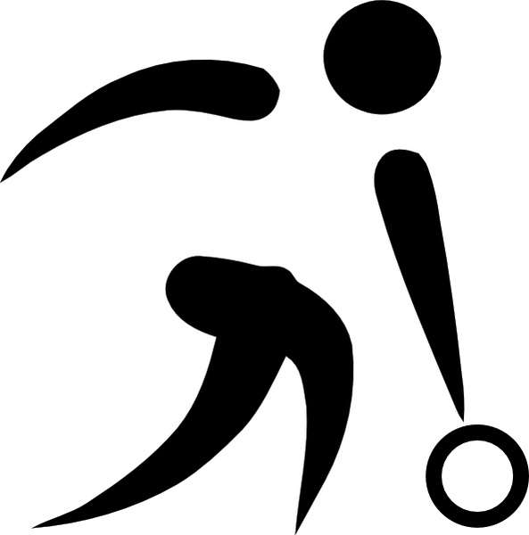 Olympic Sports Bowling Pictogram clip art