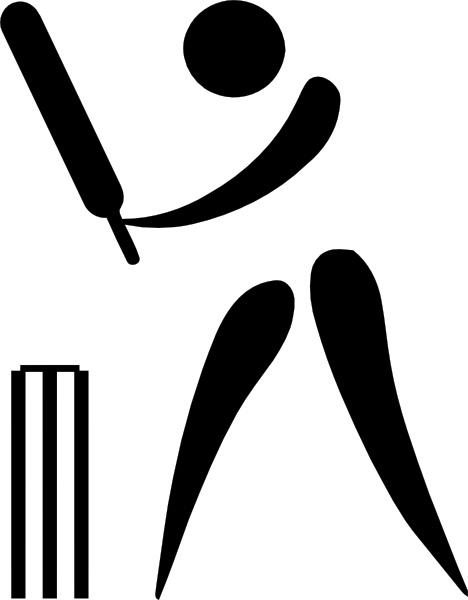 Olympic Sports Cricket Pictogram clip art