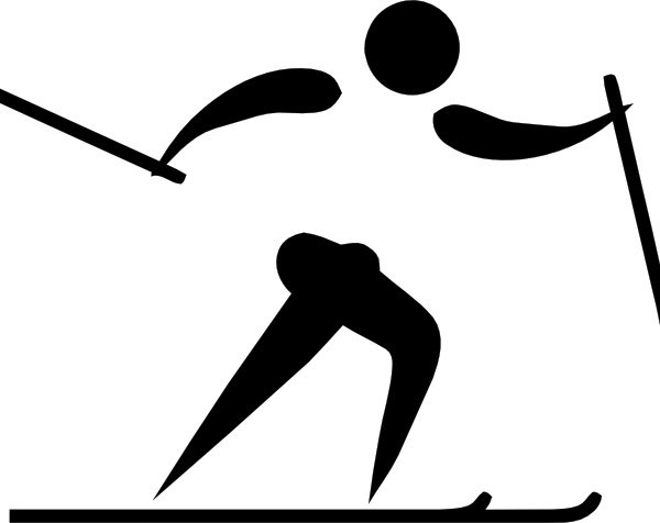 Olympic Sports Cross Country Skiing Pictogram clip art