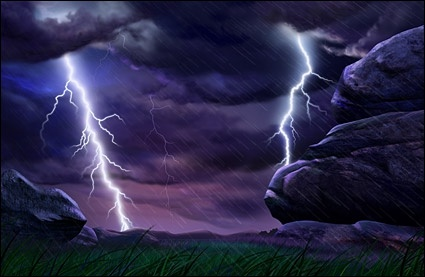 on the outskirts of lightning psd layered
