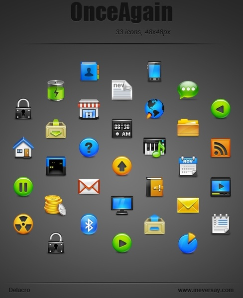 OnceAgain Icons icons pack