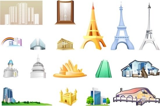 one of the building icon vector